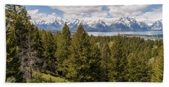 The Grand Tetons From Signal Mountain - Grand Teton National Park Wyoming Hand Towel