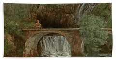 The Great Bridge, 1864 Hand Towel by Gustave Courbet
