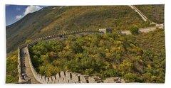 The Great Wall Of China At Mutianyu 2 Hand Towel