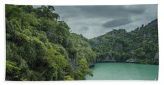 The Green Laguna Bath Towel by Michelle Meenawong