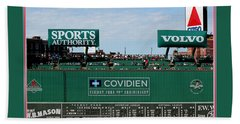 The Green Monster Fenway Park Bath Towel by Tom Prendergast