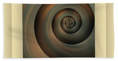 Bath Towel featuring the digital art The Green Spiral by Mihaela Stancu