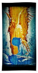 Bath Towel featuring the digital art The Guardian Angel by Absinthe Art By Michelle LeAnn Scott