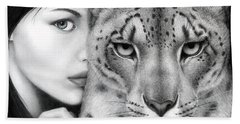 The Guardian Bath Towel by Pat Erickson