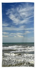 The Gulf Of Mexico From Galveston Hand Towel
