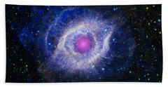 The Helix Nebula Hand Towel by Adam Romanowicz