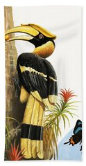 The Hornbill Hand Towel by R.B. Davis