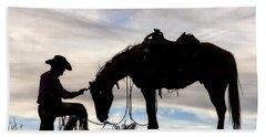 The Horse Whisperer 2013 Bath Towel by Joan Davis