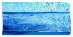 Bath Towel featuring the painting The Iceage Cometh No.2 by Trudi Doyle
