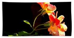The Illuminated Rose Hand Towel by AJ  Schibig