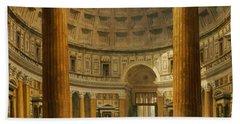 The Interior Of The Pantheon Bath Towel