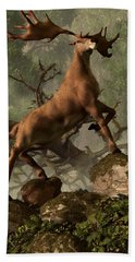 The Irish Elk Hand Towel by Daniel Eskridge