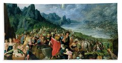The Israelites On The Bank Of The Red Sea, 1621 Oil On Canvas Hand Towel
