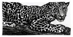 The Jaguar  Bath Towel