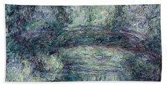 The Japanese Bridge, 1918-19 Oil On Canvas See Detail 382336 Bath Towel
