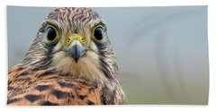 The Kestrel Face To Face Hand Towel by Torbjorn Swenelius