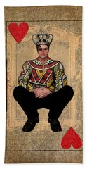 The King Of Hearts Bath Towel