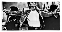 The King Of Pop Hand Towel by Florian Rodarte