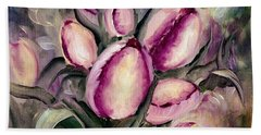 The Kings Tulips Bath Towel