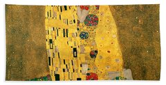 The Kiss Hand Towel by Gustive Klimt