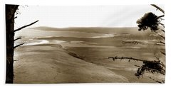 The Lagoon At The Mouth Of The Carmel River  From Fish Ranch California 1905 Hand Towel