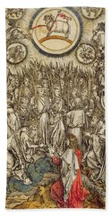 The Lamb Of God Appears On Mount Sion, 1498  Hand Towel
