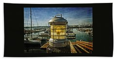 The Lamp At Embarcadero  Bath Towel