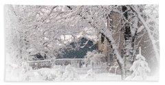 The Last Snow Storm Bath Towel by Kay Novy