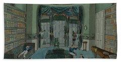 The Library, C.1820, Battersea Rise Bath Towel