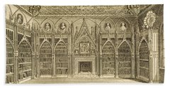 The Library, Engraved By Godfrey Bath Towel