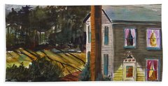 Hand Towel featuring the painting The Light Over The Door by John Williams