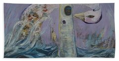 The Lighthouse Keeper And The Swan #1  Bath Towel
