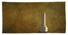 The Lighthouse - Port Washington Hand Towel by Mary Machare
