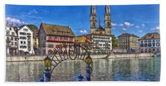 The Limmat City Hand Towel by Hanny Heim