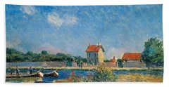The Loing Canal At Saint-mammes Hand Towel
