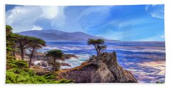 The Lone Cypress Bath Towel