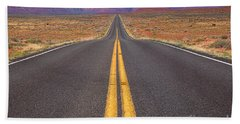 The Long Road Ahead Bath Towel
