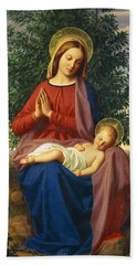 The Madonna And Child Hand Towel