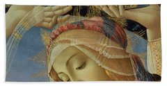 The Madonna Of The Magnificat Hand Towel