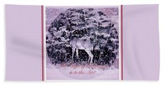 Bath Towel featuring the photograph The Magic Of Christmastime In A Woodland II by Kimberlee Baxter