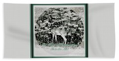 The Magic Of Christmastime In A Woodland Hand Towel by Kimberlee Baxter