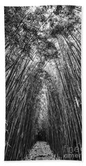 The Magical And Mysterious Bamboo Forest Of Maui. Hand Towel