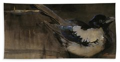 The Magpie Hand Towel by Joseph Crawhall