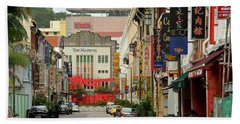 Hand Towel featuring the photograph The Majestic Theater Chinatown Singapore by Imran Ahmed