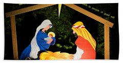 O Holy Night Bath Towel