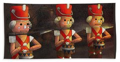 The March Of The Wooden Soldiers Bath Towel by Reynold Jay