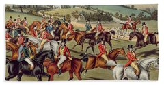'the Meet' Plate I From 'fox Hunting' Hand Towel