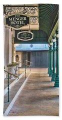 The Menger Hotel In San Antonio Bath Towel by David and Carol Kelly