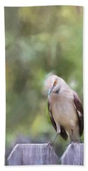 The Mockingbird Hand Towel by David and Carol Kelly