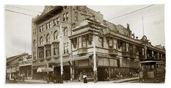 The Monterey Hotel 1904 The Goldstine Block Building 1906 Photo  Hand Towel